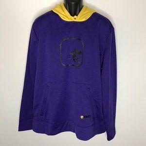 New Vintage And 1 Hoodie Pullover Purple Yellow